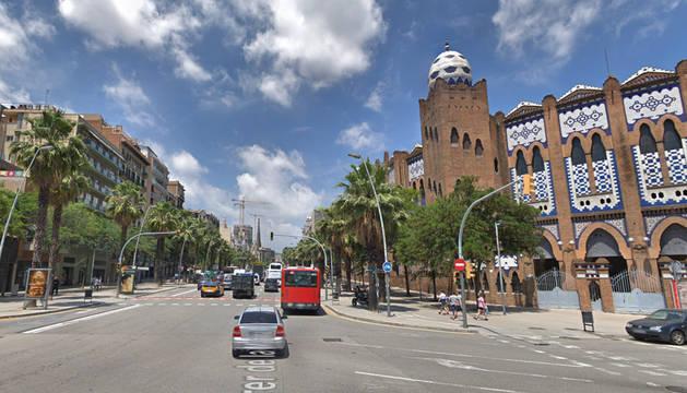 Imagen de la calle Marina, cerca del Port Olímpic de Barcelona.