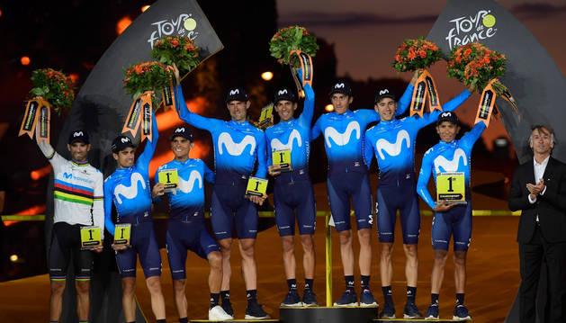 foto de Movistar Team, campeón por equipos del Tour