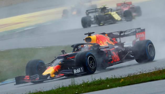 foto de El coche Red Bull de Max Verstappen, durante el G.P. de Alemania