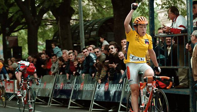 Diana Ziliute ganando la Vuelta en el 2000.