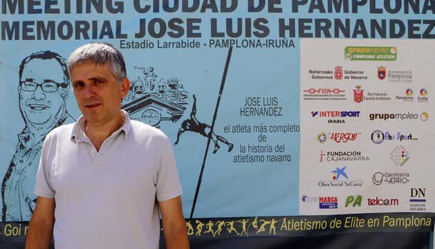 Foto de Manuel Quijera, presidente del Grupompleo Pamplona Atlético.