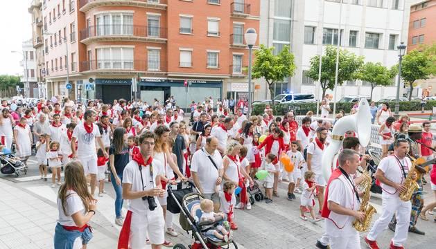 Numerosos niños y padres acudieron a la Dorotea Infantil que promueve la peña Ciudad Deportiva.