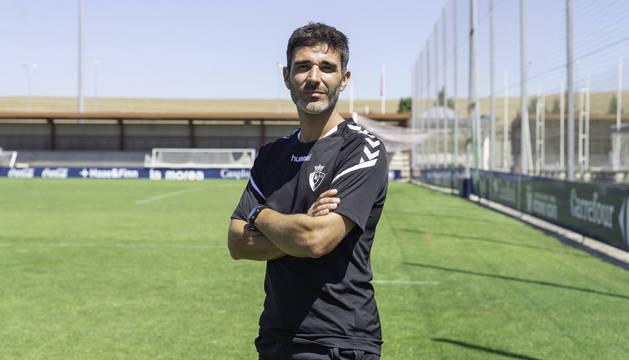 Foto de Sergi Pérez, preparador físico de Osasuna, que afronta su segunda temporada tras llegar con Arrasate y Alkiza.