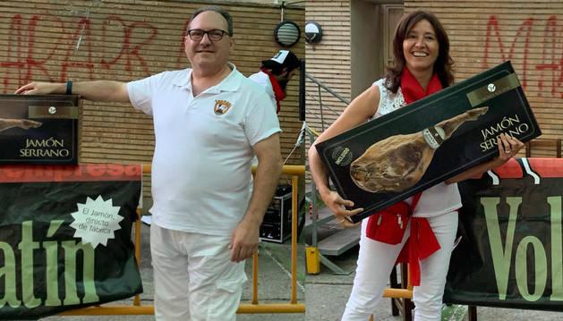 Mariano Belloso y Esperanza Suberviola, ganadores del concurso 'Gorrín 2019'