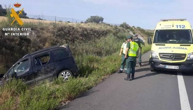 Foto del estado en el que ha quedado el vehículo.