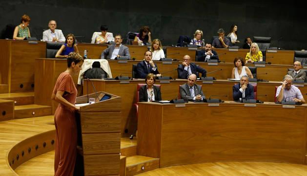 DIRECTO | Receso del Pleno antes de la votación en la que Chivite necesita mayoría absoluta