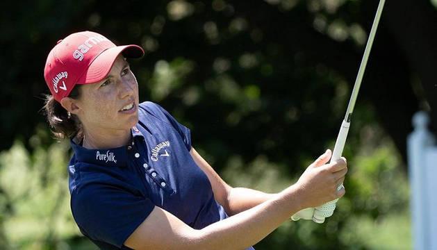 Carlota Ciganda, en uno de los torneos de esta temporada.