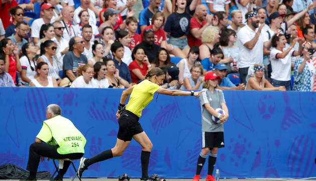 Stéphanie Frappart, en la final del Mundial femenino.