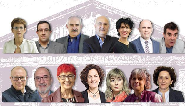 foto de Nuevos consejeros del Gobierno de Navarra presidido por María Chivite
