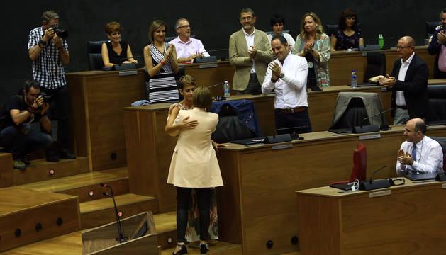 Sesión de investidura de María Chivite como presidenta del Gobierno de Navarra