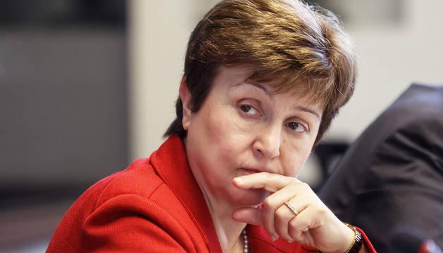 Imagen de archivo de la búlgara Kristalina Georgieva, candidata de la UE a la presidencia del FMI.