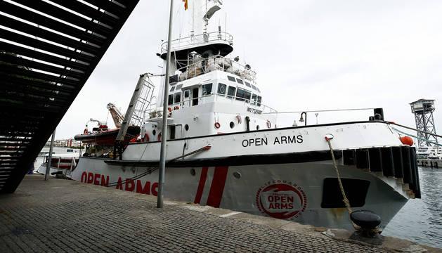 Imagen de archivo del 'Open Arms' atracado en el puerto de Barcelona.