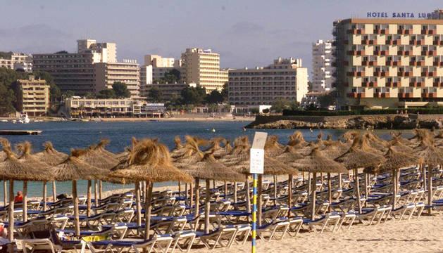 Playa de Calvia, en Mallorca.
