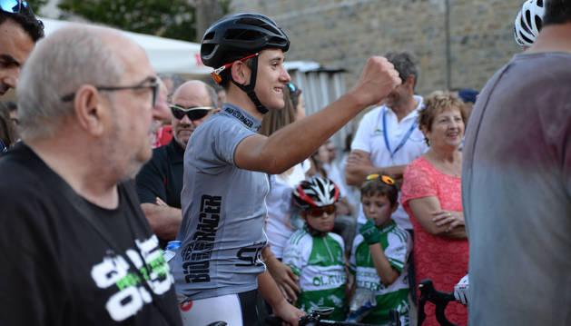 Foto del navarro Josu Etxeberria, que ganó la Vuelta el año pasado.
