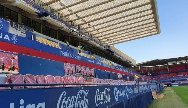 Nuevos asientos en El Sadar