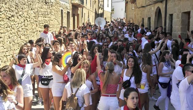 Todas las fotos del cohete de fiestas de Larraga 2019 en Diario de Navarra