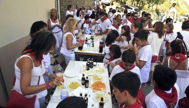 Fotos del cohete de fiestas de Larraga 2019