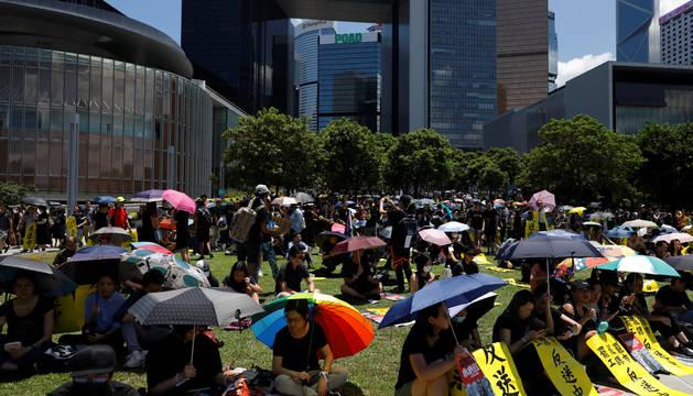 Una huelga histórica en Hong Kong
