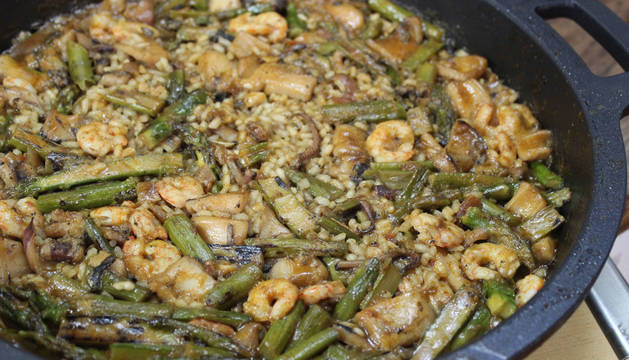 Foto de la receta de calamares y trigueros.