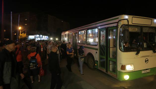 Foto de la evacuación de Achinsk.