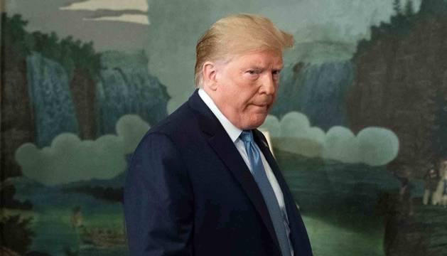 El presidente de los Estados Unidos, Donald J. Trump, hace una declaración en la Casa Blanca en respuesta a los tiroteos ocurridos este fin de semana en El Paso (Texas) y Dayton (Ohio).