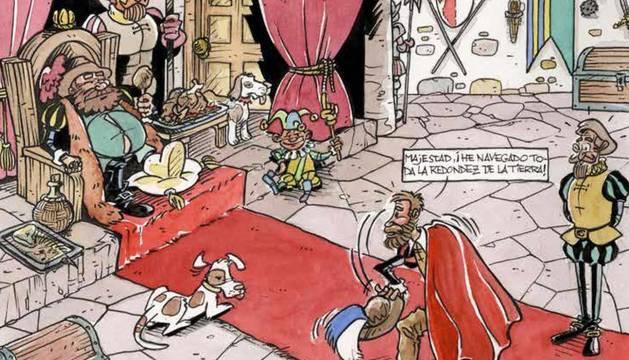 Foto de una de las viñetas del cómic.