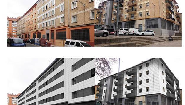 Proyecto de cubierta de fachada y mejora de uno de los edificios de San Jorge.