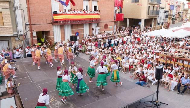 Fotos del Paloteado de fiestas de Fustiñana