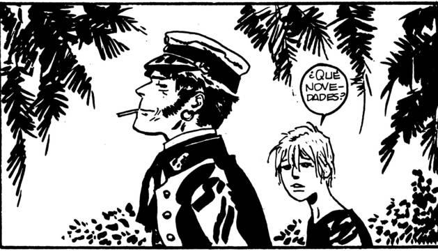 Viñeta de una historieta del Corto Maltés.