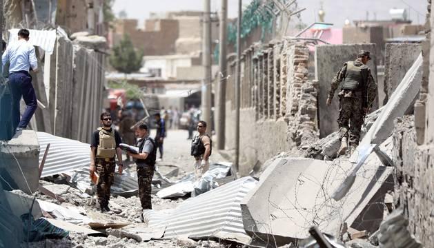 Al menos 18 muertos y más de 100 heridos por un atentado talibán en Kabul