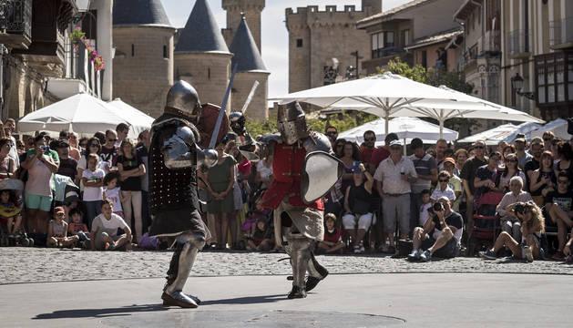 Foto genérica del festival medieval de Olite