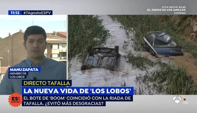 Foto de la conexión en directo con Manu Zapata en 'Espejo Público'.