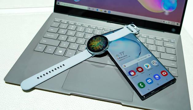 Foto de los nuevos productos presentados por Samsung.