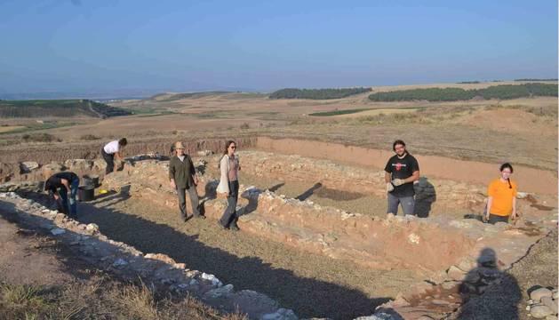 La excavación que se lleva a cabo en el poblado El Castillar de Mendavia.