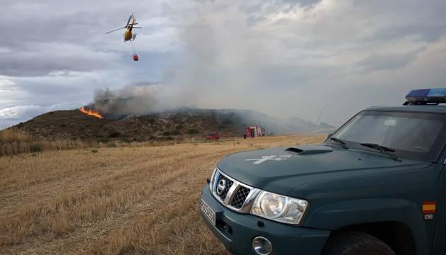 Declarado un incendio en Arróniz en las inmediaciones de una empresa y una granja