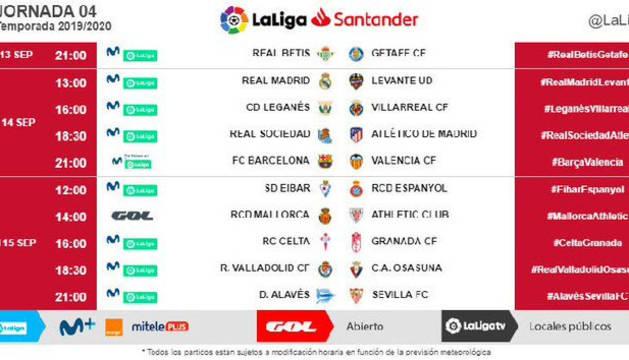 Osasuna ya conoce cuándo se enfrentará al Valladolid en la cuarta jornada