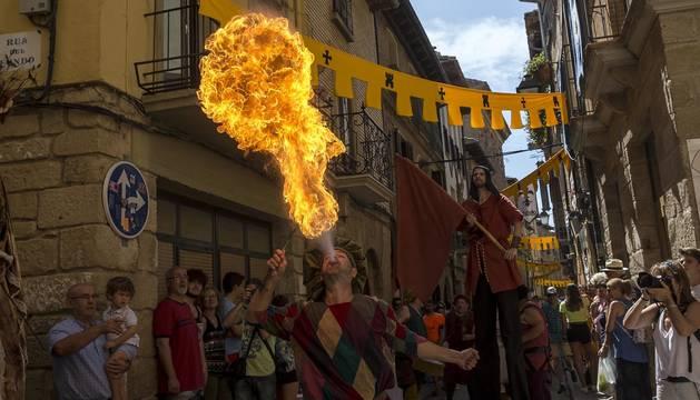 Fotos del inicio de las fiestas medievales de Olite