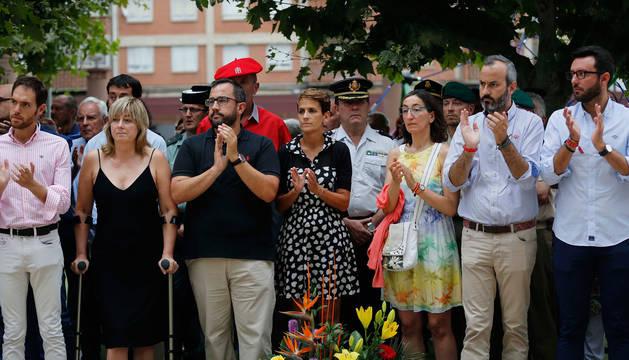 Foto del homenaje a Francisco Casanova en Berriozar.