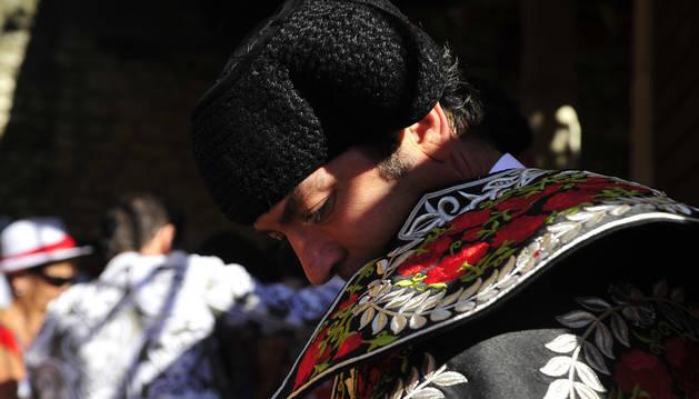 Imagen de una de las corridas de toros de Tafalla.