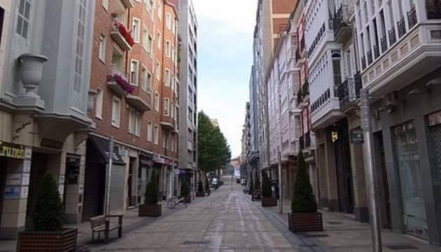Calle Fueros, donde ocurrieron los hechos