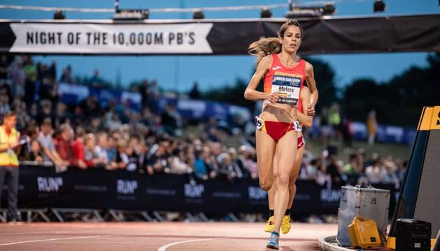 Maitane Melero, en la pasada Copa de Europa de 10.000m en Londres.