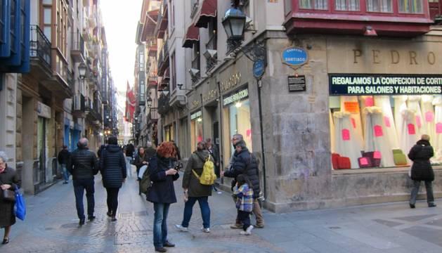El Casco Viejo de Bilbao, donde han sido hallados los cadáveres.