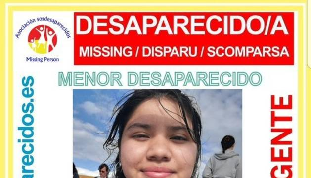 La menor desaparecida en Santiago