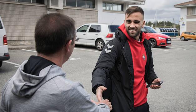 Foto de Rober Ibáñez, que estuvo este lunes por la tarde en Tajonar para firmar el nuevo contrato hasta 2023.