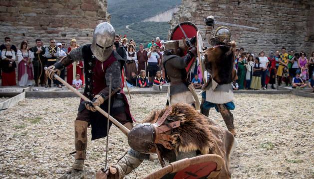 Foto de un combate medieval durante la pasada edición de la fiesta.