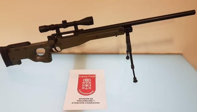 Foto del arma incautada.