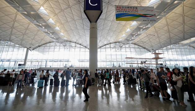 Foto del aeropuerto de Hong Kong.