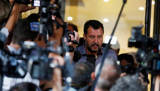 Foto de Matteo Salvini, este lunes, en Roma.