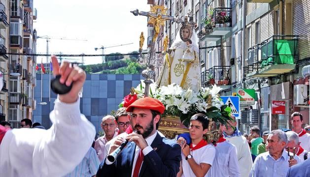 Procesión de las fiestas de Burlada 2019