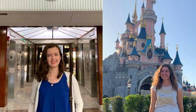 Alexia Tefel (izquierda), en el de Miami e Iranzu Artaso Andrés, trabaja en el consulado español en París.